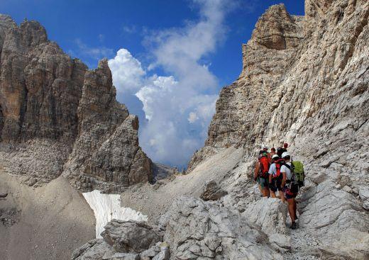 Herausfordernde Wandertouren - Bild: Trentino