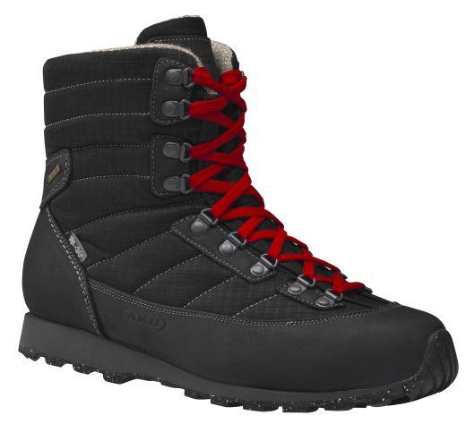 In der Männerversion ist der Verno GTX in Dunkelbraun und in Schwarz erhältlich. Das Highlight sind die bunten Schnürbänder. - Bild: AKU