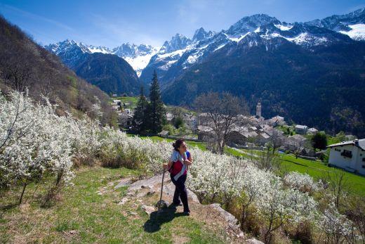Bergell, Via Bregaglia, Wandern in Soglio, Val Bondasca - Foto: Bregaglia Engadin Turismo