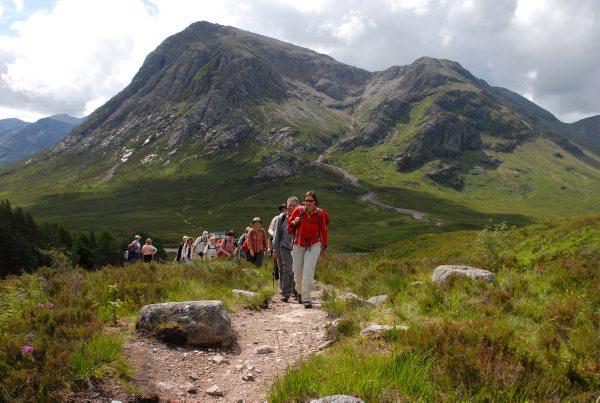 Wanderer in Glencoe,Schottland Foto: Wikinger Reisen