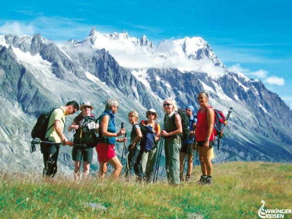 Grandes Jorasses Foto: Wikinger Reisen