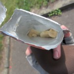 Getrocknete/dehydrierte Bananen auf dem Moselradweg