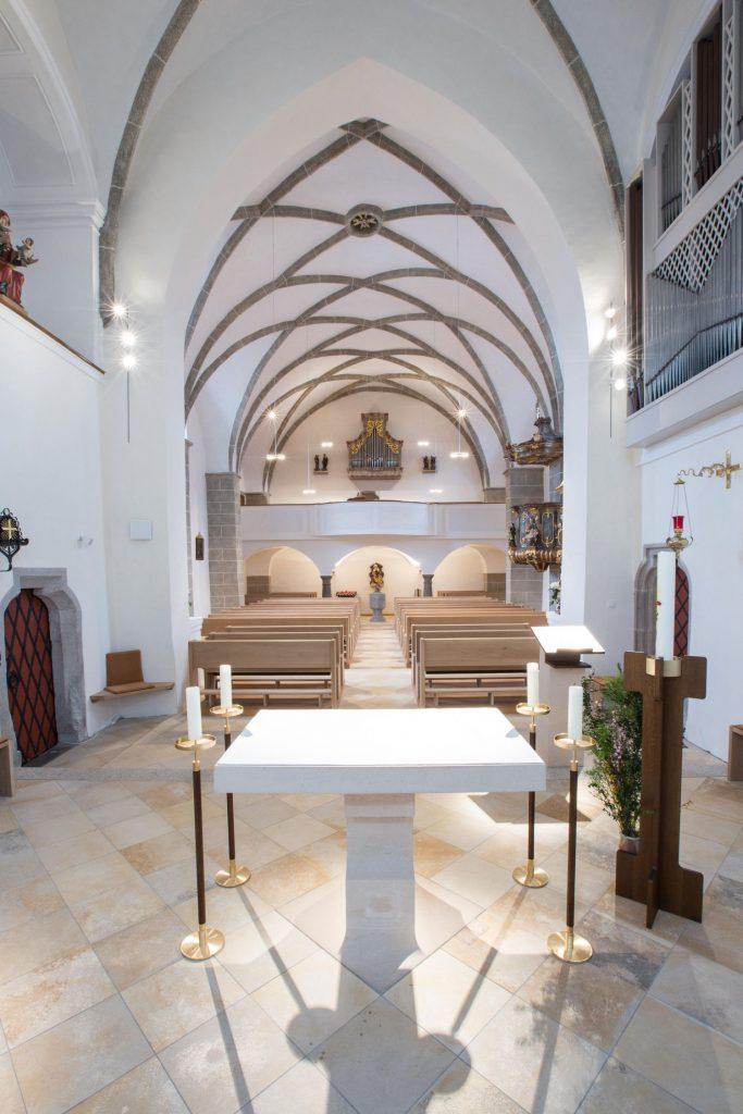 St. Anna, Kreuzberg, Kirchenschiff - Copyright Touristinformation Kurverwaltung Freyung